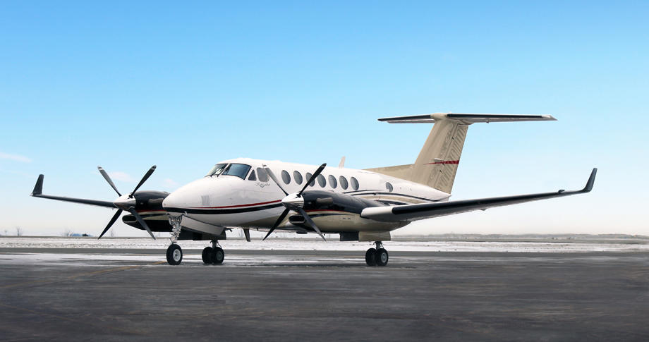 King Air 350 on ground