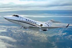 Hawker 900 flying