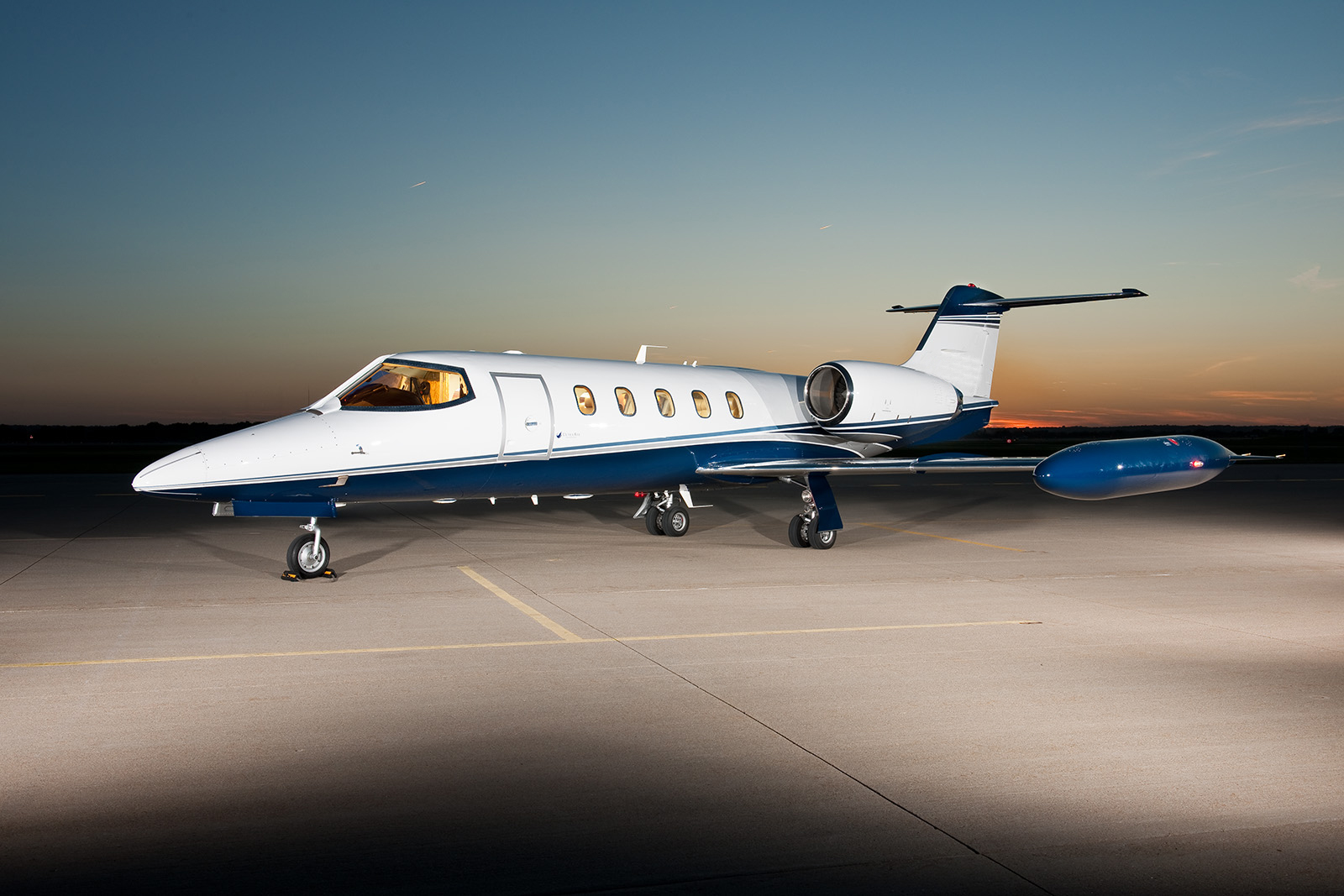 Lear 35 on ground