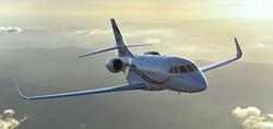 Falcon 2000 in air.jpg