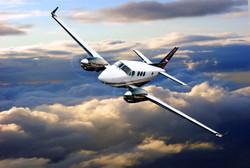 King Air 90 Flying