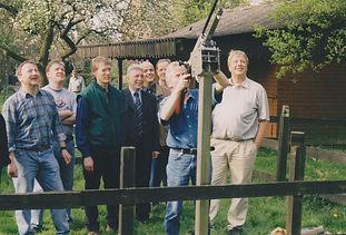 Ausrichten und testen der neuen Gewehr Lafette im Jahr 2000 bei Lauhues - Wessling