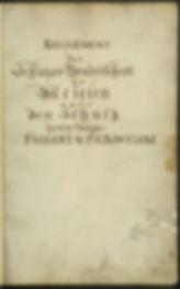Protokollbuch von 1779