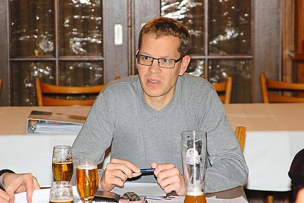Skizzierte die Pläne für das Jubiläum: Christian Ernsting, Vorsitzender der Schützenbruderschaft. Foto: Martin Fahlbusch