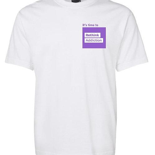 White #RethinkAddiction T-Shirt