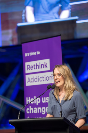 Moderator Sally Rugg