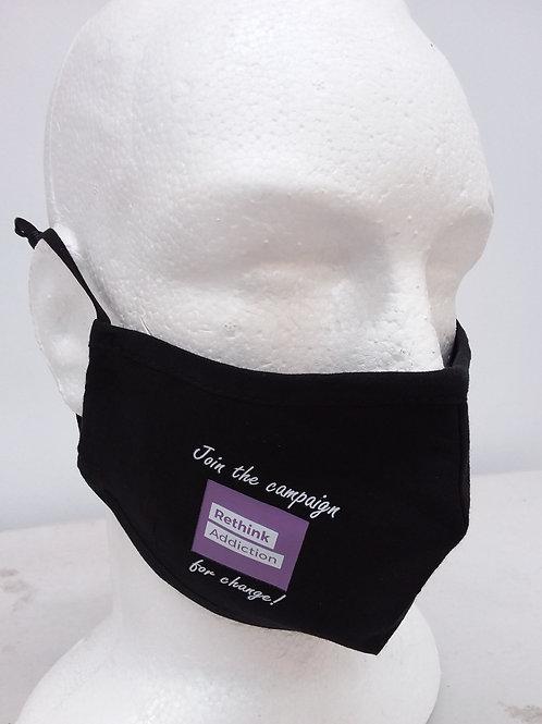 #RethinkAddiction Face Mask (One size fits most Adults)