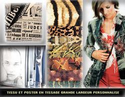 Tissu personnalisé (poster)