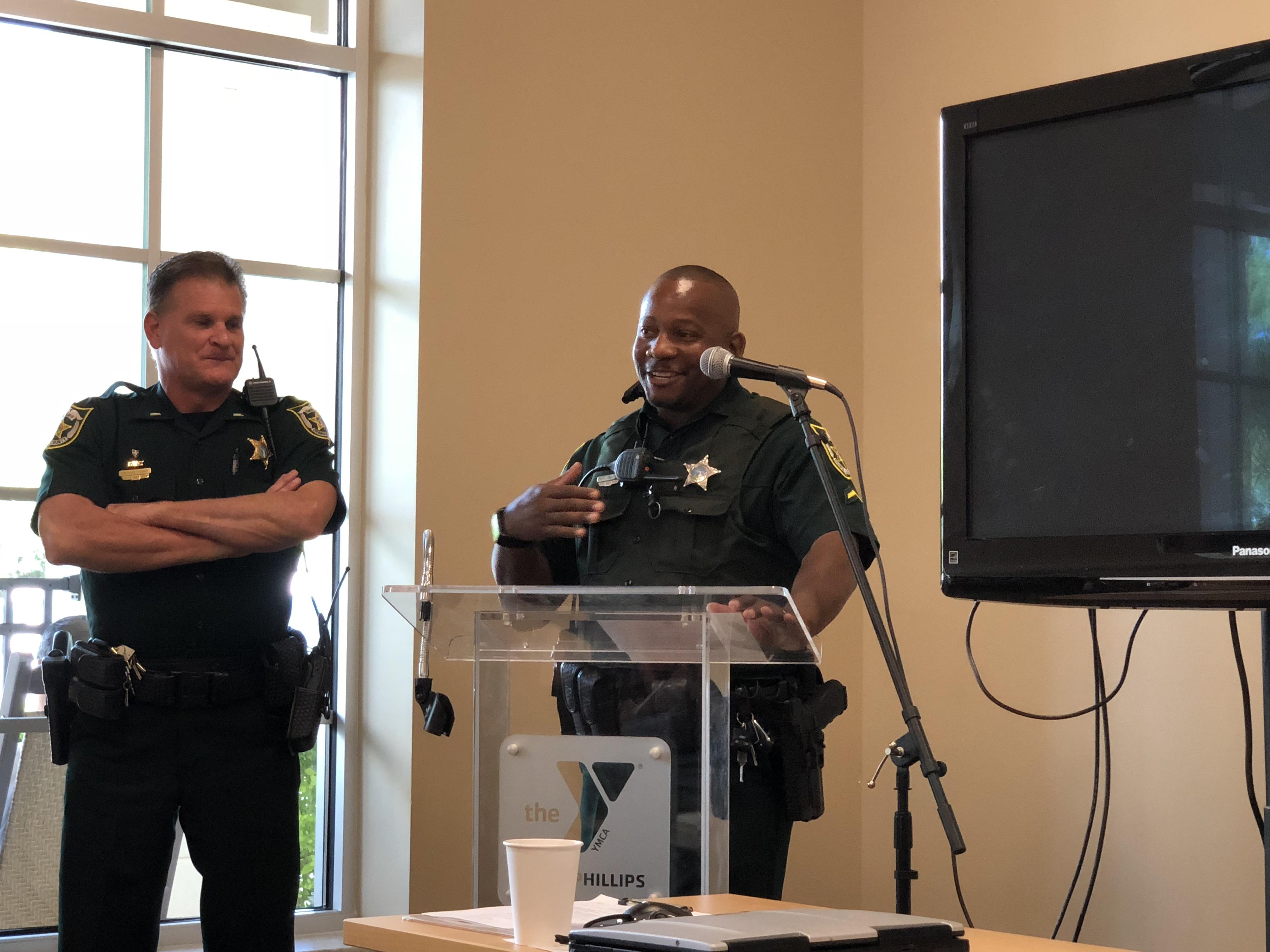 Lieutenant Rosier and Deputy Troutman