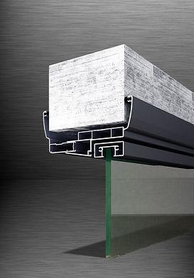 Алюминиевый дверной профиль