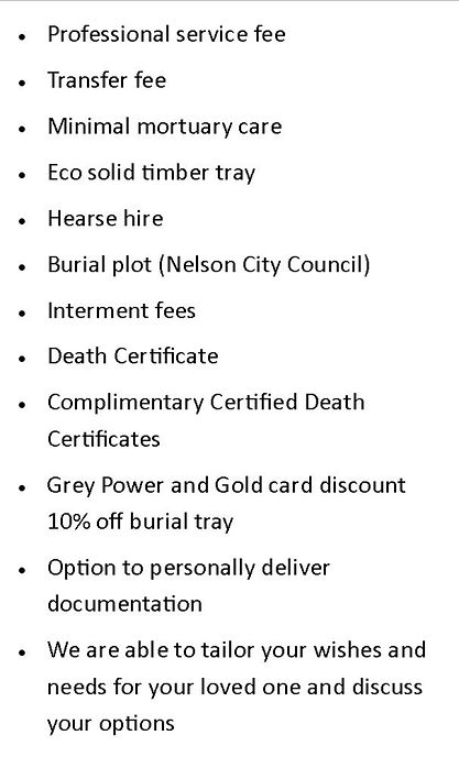 natural-burial- price scenario shone and