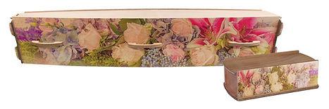 departure lounge casket floral shone and