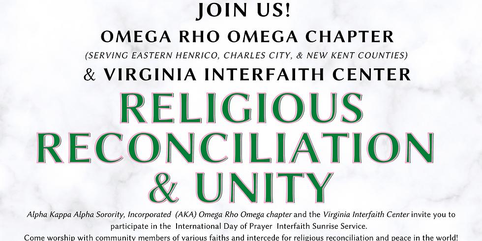 International Day of Prayer: Interfaith Sunrise Service