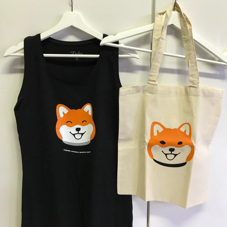 Shiba Inu Shirt + Tas