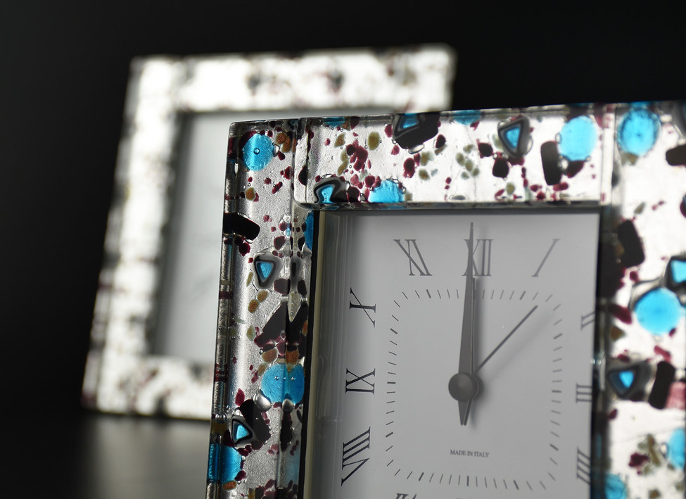 MURANO GLASS ALARM CLOCK