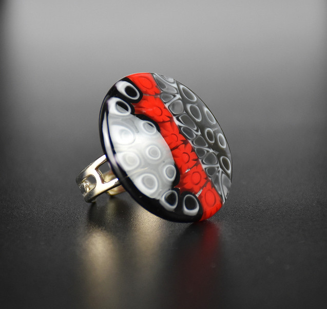 RING MURRINE 3 CM., NON ALLERGENIC AND NICKEL FREE METAL, ADJUSTABLE  SIZE