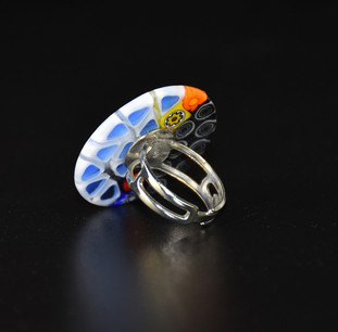 RING WITH MURRINE 3 CM, NON ALLERGENIC METAL