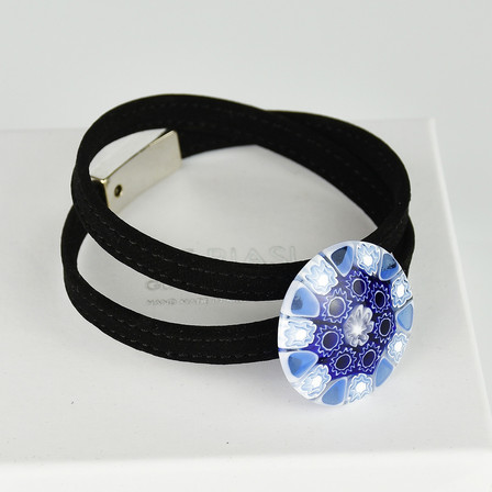 Bracelet with light blue murrine