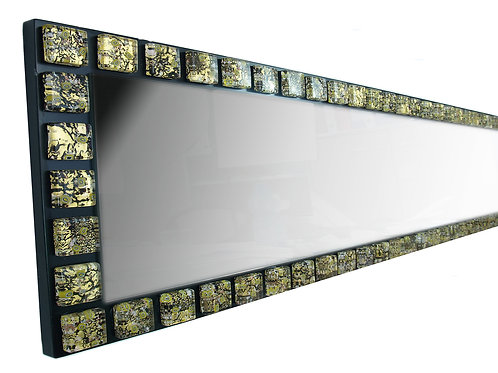 MURANO GLASS MIRROR WITH GOLDEN SQUARE PLATES