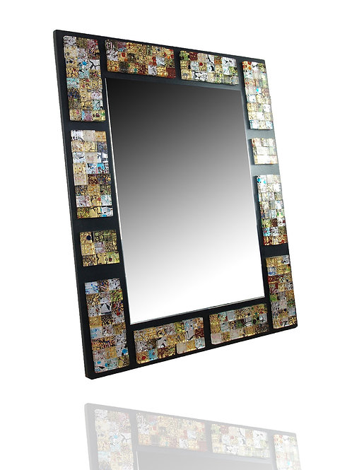 MURANO GLASS MIRROR WITH MOSAIC FRAME