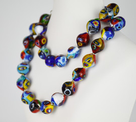 53 CM LONG NECKLACE MADE WITH MULTICOLOURED MURRINE