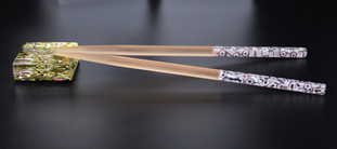 GLASS CHOPSTICKS MADE WITH MURRINE