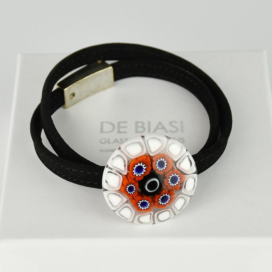 glass bracelet with velvet string