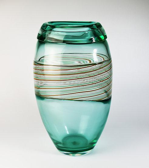 MURANO GLASS VASE GREEN COLOUR