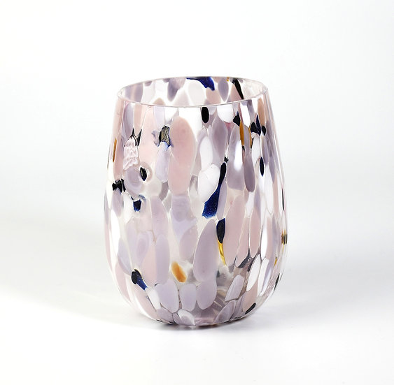 MURANO DRINKING GLASS PURPLE  PINK AND MULTICOLOUR