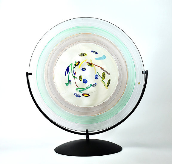 MURANO GLASS CENTERPIECE 50 CM DIAM.