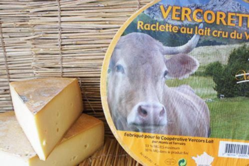 Vercorette raclette au lait du Vercors, prix au kg