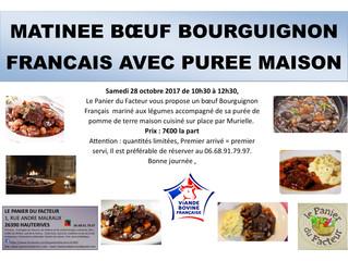 Matinée Bœuf Bourguignon Français 7€00 la part