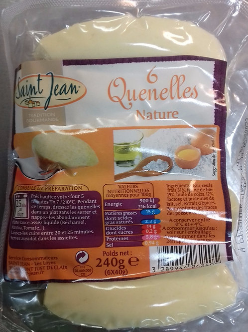 Quenelles nature Saint Jean