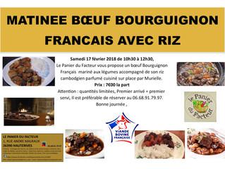 Matinée Bœuf Bourguignon Riz