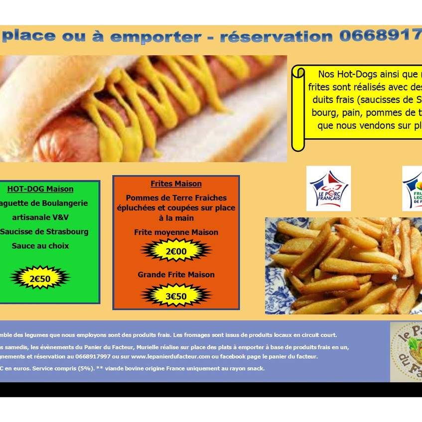 Carte menu snack en image P4