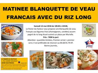 Matinée blanquette de veau Français riz