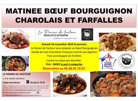 Matinée Boeuf Bourguignon Charolais
