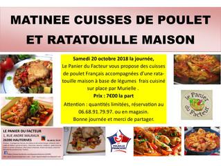 Matinée Cuisses de Poulet et Ratatouille Maison