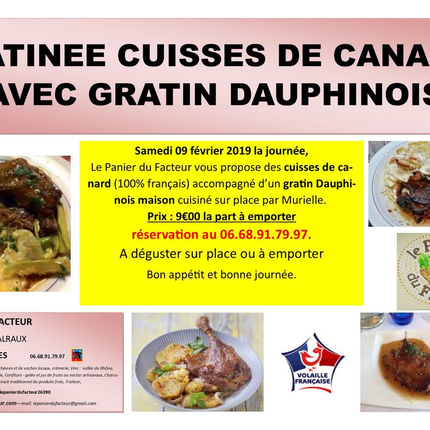 Pub_matinée_cuisses_de_canard_gratin_dau
