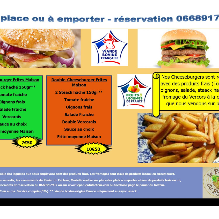 Carte menu snack en image P3