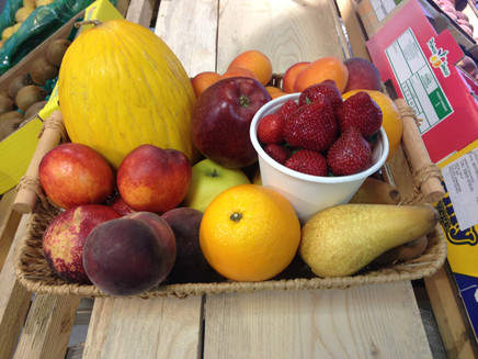 Corbeille de fruits locaux