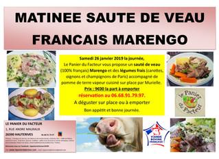 Matinée Sauté de Veau Marengo