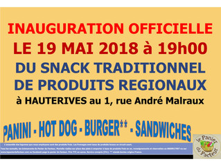 INAUGURATION DU SNACK TRADITIONNEL