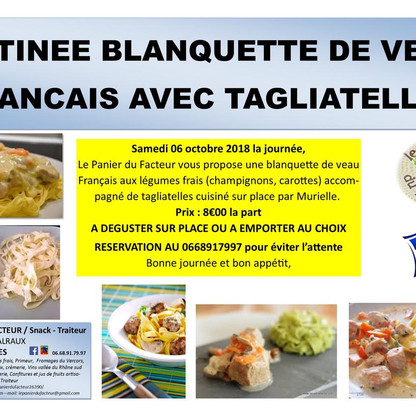 Pub_matinée_blanquette_de_veau_tagliatel