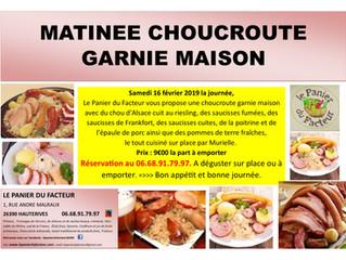 Matinée Choucroute Garnie Maison