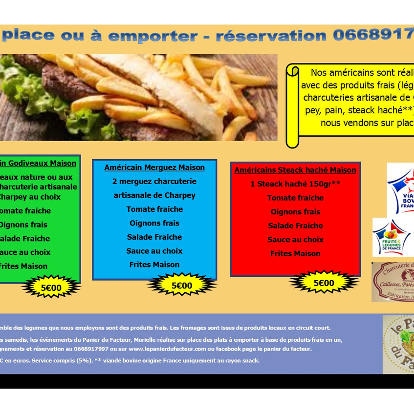 Carte menu snack en image P5