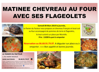 Matinée Chevreau au four
