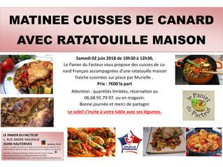 Matinée Cuisses de Canard avec Ratatouille Maison