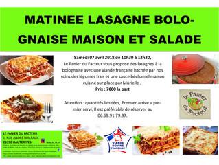 Matinée lasagnes bolognaise maison