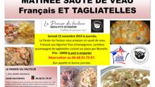 Sauté de Veau Français Tagliatelles